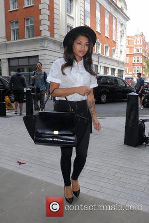 Vanessa White - The Saturdays arrive at the Radio 1 studios to promote their new single - London, United Kingdom...