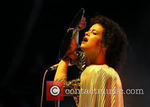 Arcade Fire and Regine Chassagne - Glastonbury Festival 2014 - Performances - Day 2 - Arcade Fire - Glastonbury, United...