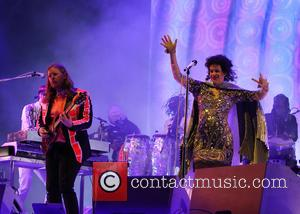 Arcade Fire, Regine Chassagne and Richard Reed Parry - Glastonbury Festival 2014 - Performances - Day 2 - Arcade Fire...