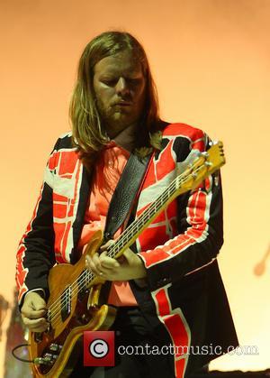 Arcade Fire and Richard Reed Parry - Glastonbury Festival 2014 - Performances - Day 2 - Arcade Fire - Glastonbury,...