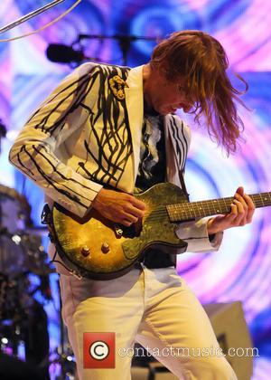 Arcade Fire and Tim Kingsbury - Glastonbury Festival 2014 - Performances - Day 2 - Arcade Fire - Glastonbury, United...