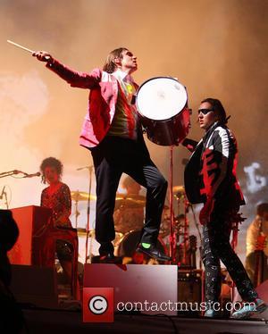 Arcade Fire, William Butler and Win Butler - Glastonbury Festival 2014 - Performances - Day 2 - Arcade Fire -...