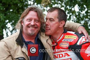 Charley Boorman and John McGuinness - Goodwood Festival of Speed 2014 - Day 2 - Goodwood, West Sussex, United Kingdom...