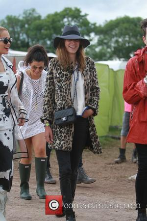 Alexa Chung - Glastonbury Festival 2014 - Celebrity sightings and atmosphere - Day 2 - Glastonbury, United Kingdom - Friday...