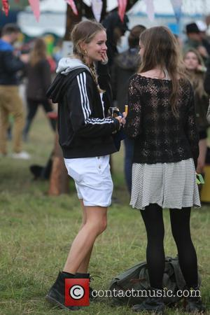 Cressida Bonas - Glastonbury Festival 2014 - Celebrity sightings and atmosphere - Day 2 - Glastonbury, United Kingdom - Friday...