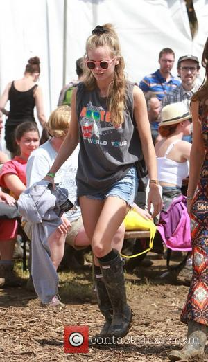 Cressida Bonas - Glastonbury Festival 2014 - Celebrities and atmosphere. - Glastonbury, United Kingdom - Friday 27th June 2014