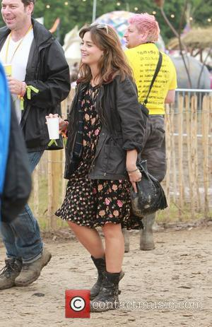 Jenna Louise Coleman - Glastonbury Festival 2014 - Celebrities and atmosphere. - Glastonbury, United Kingdom - Friday 27th June 2014