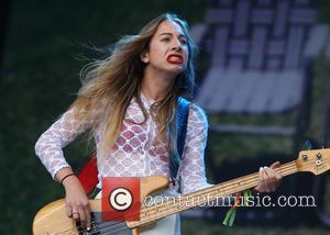 Haim and Este Haim - Glastonbury Festival 2014 - Performances - Day 2 - Haim - Glastonbury, United Kingdom -...