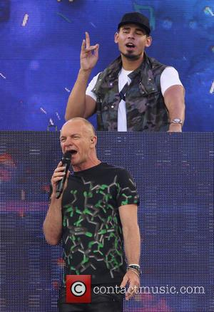Sting, Gordon Sumner and Afrojack - ABC's Good Morning America Summer Concert Series held at Central Park - New York...