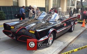 Dean Martin and Batmobile