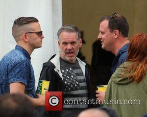 Chris Moyles - Glastonbury Festival 2014 - Celebrity sightings and atmosphere - Day 3 - Glastonbury, United Kingdom - Saturday...