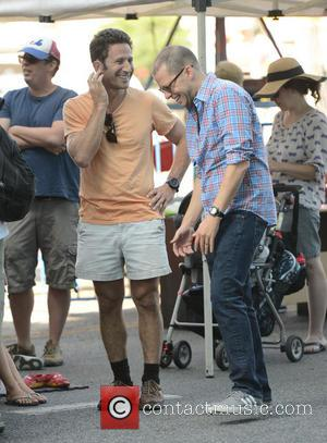 Jon Cryer and Mark Feuerstein - Celebrities at the Farmers Market - Los Angeles, California, United States - Sunday 29th...