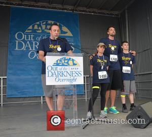 Craig Robinson, Donna Micheletti, Ryan Anderson and Dylan Micheletti - Gia Allemand Family Participates in Suicide Awareness Walk including former...