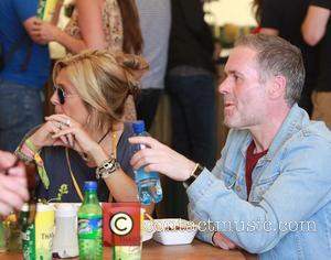 Chris Moyles - Glastonbury Festival 2014 - Celebrities and atmosphere. - Glastonbury, United Kingdom - Sunday 29th June 2014