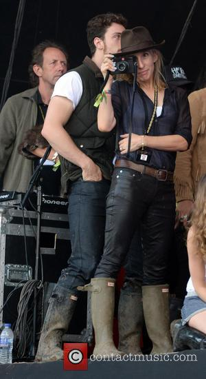 Sam Taylor- Wood and Aaron Taylor- Johnson - Glastonbury Festival 2014 - Celebrity sightings and atmosphere - Day - Glastonbury,...