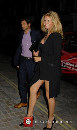 Rachel Hunter - Celebrities at the Chiltern Firehouse in Marylebone - London, United Kingdom - Tuesday 1st July 2014