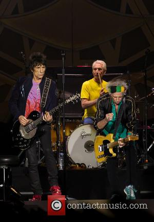 Charlie Watts, Ronnie Wood and Keith Richards