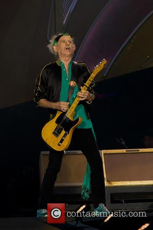 Keith Richards - The Rolling Stones performing live on stage on their '14 ON FIRE' tour at the Tele2 Arena...