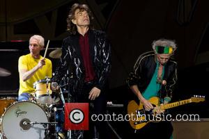 Mick Jagger, Charlie Watts and Keith Richards