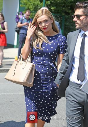 Katherine Jenkins and Andrew Levitas - Celebrities attend Wimbledon 2014 - London, United Kingdom - Tuesday 1st July 2014