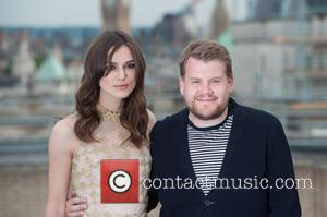 Keira Knightley and James Corden - 'Begin Again' photocall held at St Vincent House. - London, United Kingdom - Wednesday...