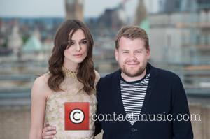 Keira Knightley and James Corden