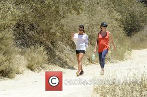 Lea Michele - Lea Michele is all smiles while going for a hike through the hills in Hollywood with a...