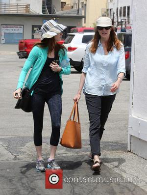 Marcia Cross - Marcia Cross wearing a cloth hat and sunglasses out and about on errands in Pacific Palisades -...