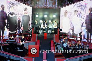 One Direction - One Direction performing live in concert during their 'Where We Are' tour at Esprit Arena in Dusseldorf...