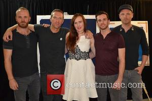 Mila Fürstová, Coldplay, Guy Berryman, Jonny Buckland and Will Champion