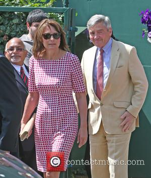 Carol Middleton and Micheal Middleton - 2014 Wimbledon Championships held at the All England Club - Celebrity Sightings - Day...