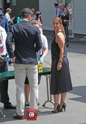 Jamie Redknapp and Louise Redknapp - 2014 Wimbledon Championships held at the All England Club - Celebrity Sightings - Day...