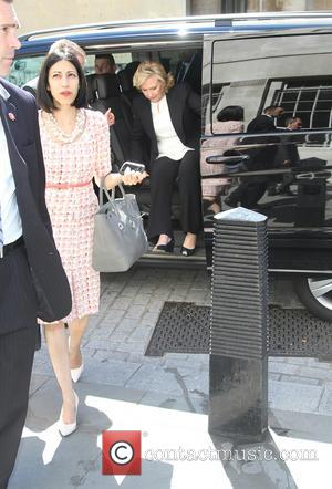 Hillary Clinton - Celebrities arriving at the BBC Radio 1 studios - London, United Kingdom - Thursday 3rd July 2014