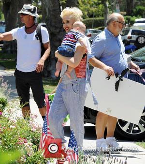 Gwen Stefani, Gavin Rossdale, Apollo Rossdale and Dennis Stefani