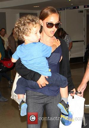 Natalie Portman and Aleph Portman-Millepied - Natalie Portman and her son Aleph Portman-Millepied arrive at Los ANgeles International Airptort (LAX)...