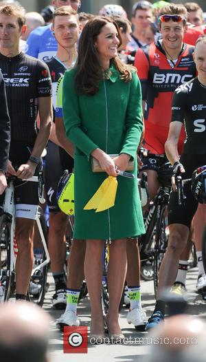 Kate Middleton and Catherine Duchess of Cambridge - British Royals attend the ceremonial start of the Tour de France, held...