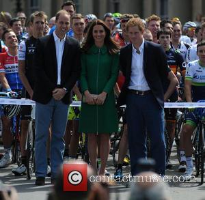 William, Duke Of Cambridge, Catherine, Duchess Of Cambridge, Prince Harry, Mark Cavendish, Kate Middleton and Catherine Middleton