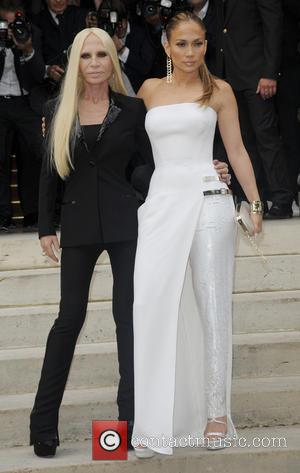 Jenifer Lopez and Donatella Versace
