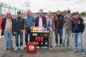 Niki Lauda, Sebastian Vettel and Nico Rosberg