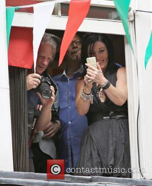 Jessie Wallace - People took to the streets of Soho to celebrate the 65th anniversary of Bar Italia, the coffee...