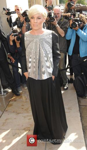 Pink - Celebrities at the Armani Cat Walk Show - Paris, France - Tuesday 8th July 2014