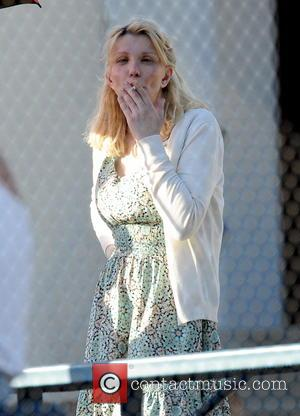 Courtney Love - Courtney Love seen on the set of 'Sons of Anarchy', filming in Los Angeles. Love can be...