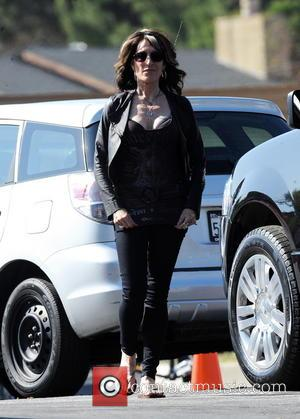 Katey Sagal - Courtney Love seen on the set of 'Sons of Anarchy', filming in Los Angeles. Love can be...