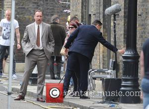 David Thewlis - Christopher Eccleston, Tom Hardy and David Thewlis filming on the set of 'Legend' in London - London,...