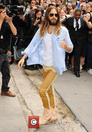Jared Leto - Paris Fashion Week Haute Couture Fall/Winter 2014-2015 - Chanel - Outside Arrivals - Paris, France - Tuesday...