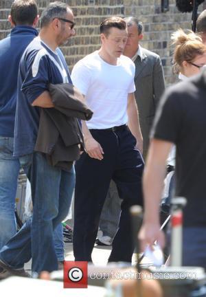 Tom Hardy's stunt double - Tom Hardy on the set of Legend movie in London - London, United Kingdom -...