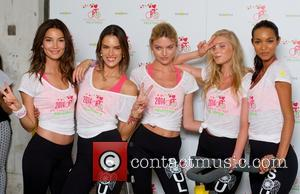 Lily Aldridge, Alessandra Ambrosio, Martha Hunt, Elsa Hosk and Lais Ribeiro - Victoria's Secret Angels Pelotonia charity ride at SoulCycle...