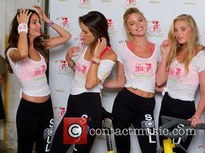 Lily Aldridge, Alessandra Ambrosio, Martha Hunt and Elsa Hosk - Victoria's Secret Angels Pelotonia charity ride at SoulCycle West Village...