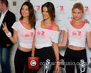 Lily Aldridge, Alessandra Ambrosio and Martha Hunt - Victoria's Secret Angels Pelotonia charity ride at SoulCycle West Village in New...