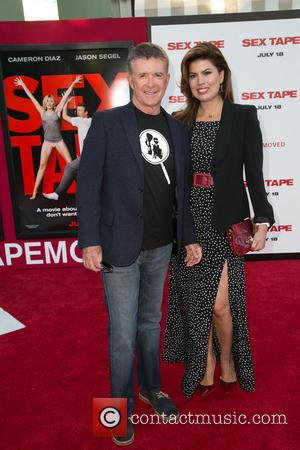 Alan Thicke and Tanya Callau - Premiere of Columbia Pictures' 'Sex Tape' - Arrivals - Los Angeles, California, United States...
